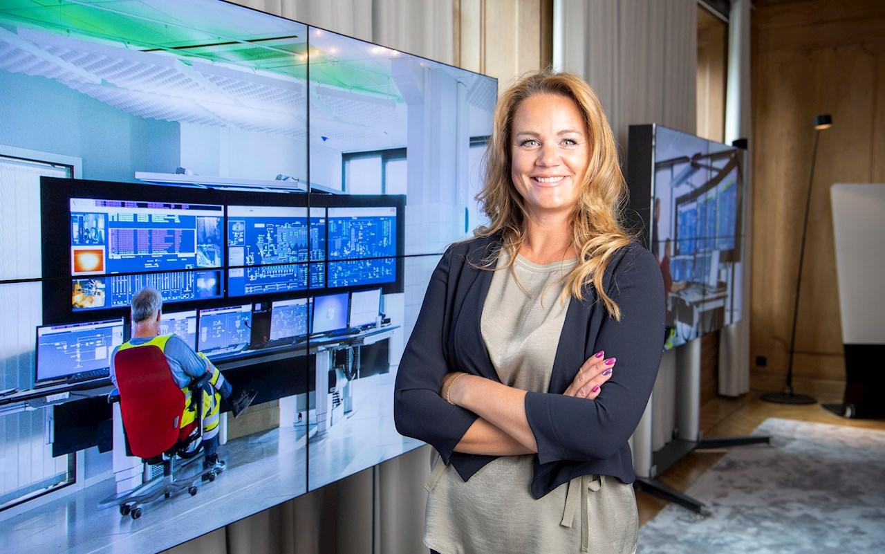 Jenny Larsson, försäljnings- och marknadschef för ABB:s division Power Grids i Sverige. Foto: Jonas Bilberg.