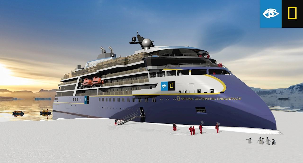 ABB leverer kraft, elektrisk fremdrift og automatisering til Lindblads nyeste luksuscruiseskip for arktiske strøk (Ill. Lindblad Expeditions Holdings Inc.)