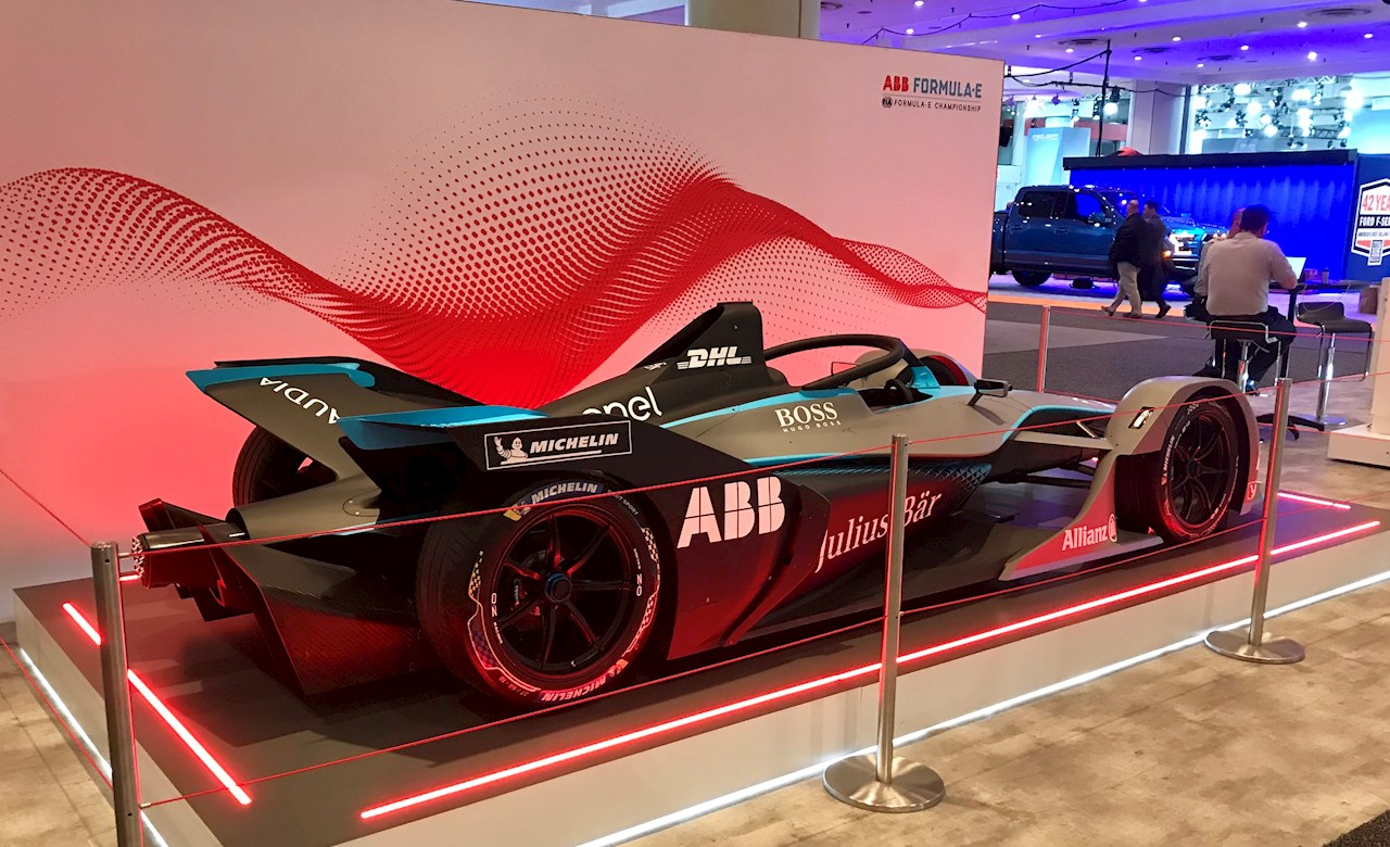 ABB Formula E race car on display at NYIAS