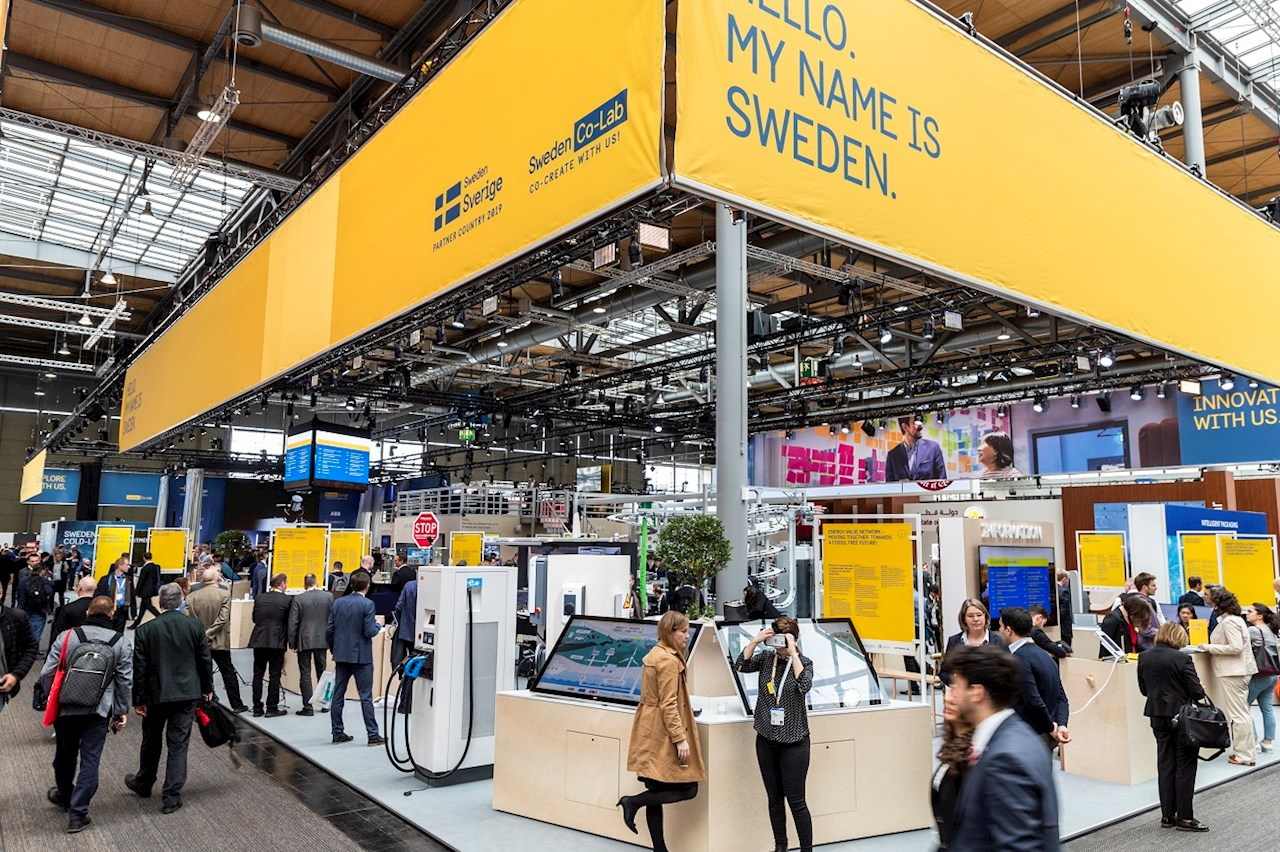 The Swedish pavillion at the Hannover Messe