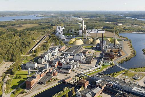 Metsä Groupin uusi biotuotetehdas tulee käyttämään kattavasti ABB:n uusinta teknologiaa. Kuva: Metsä Group