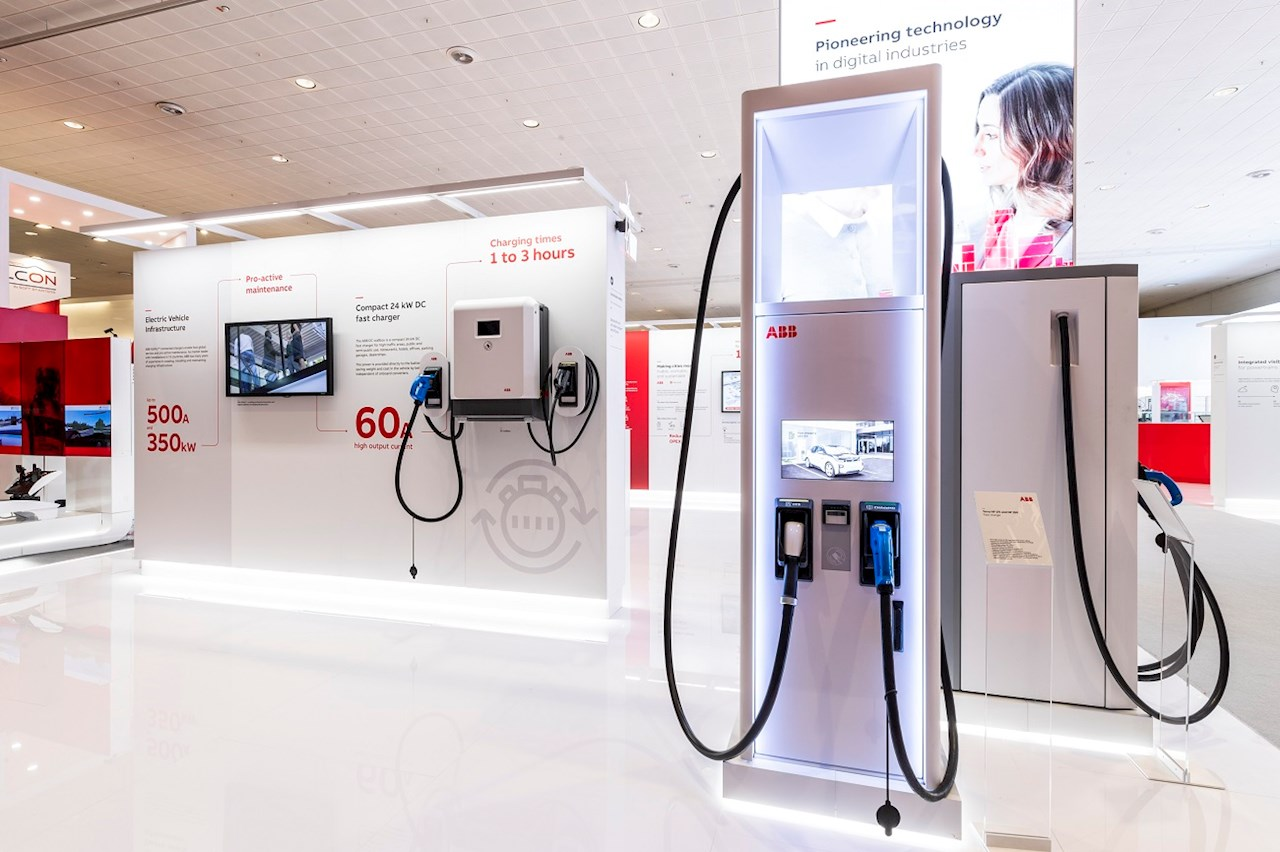 ABB EV chargers  showcased at Hannover Messe 2019