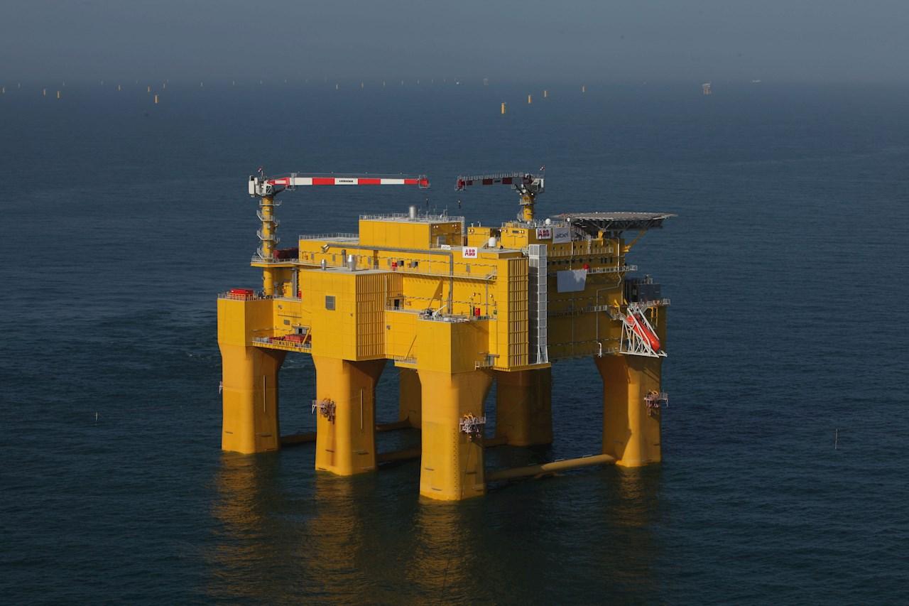 En tilsvarende omformerplattform i Nordsjøen