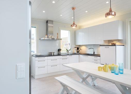 ABB-free@home ohjaa keittiössä mm. valaistusta ja pistorasioita