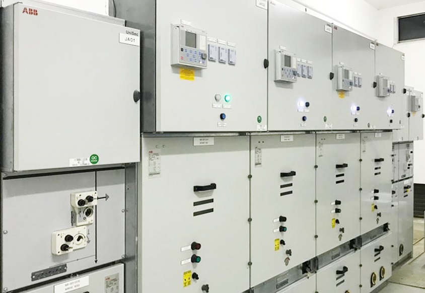 UniSec switchgear on the site