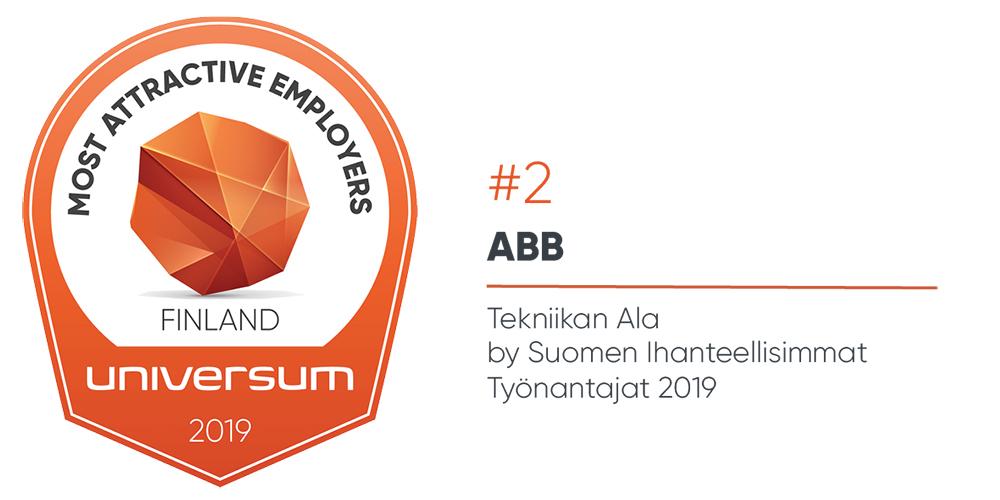 Tekniikan alan opiskelijat valitsivat ABB:n toiseksi suosituimmaksi työnantajaksi