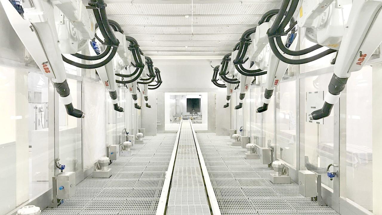 ABB liefert Lackierlösungen für SAIC Volkswagens erste Elektroautofabrik in China