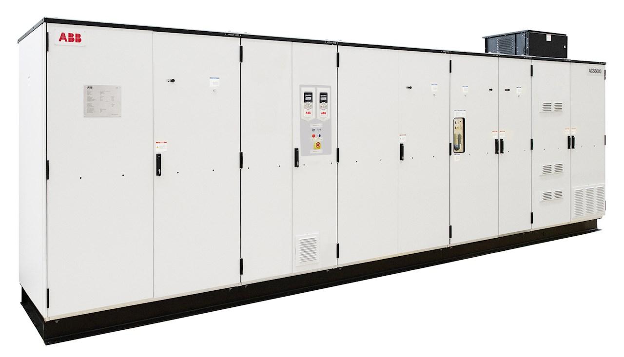 Der neue Mittelspannungsfrequenzumrichter ACS6080 für hochleistungsfähige Anwendungen.