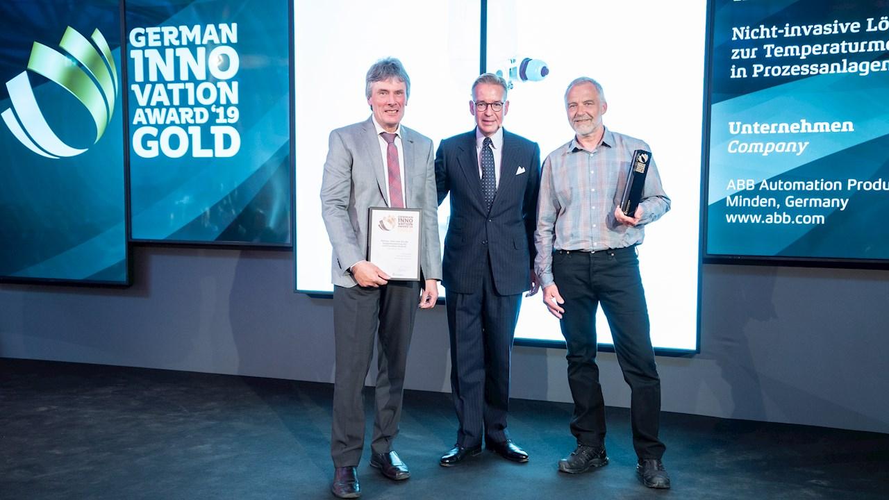 ABBs bahnbrechender nicht-invasiver Temperatursensor erhält German Innovation Award in Gold