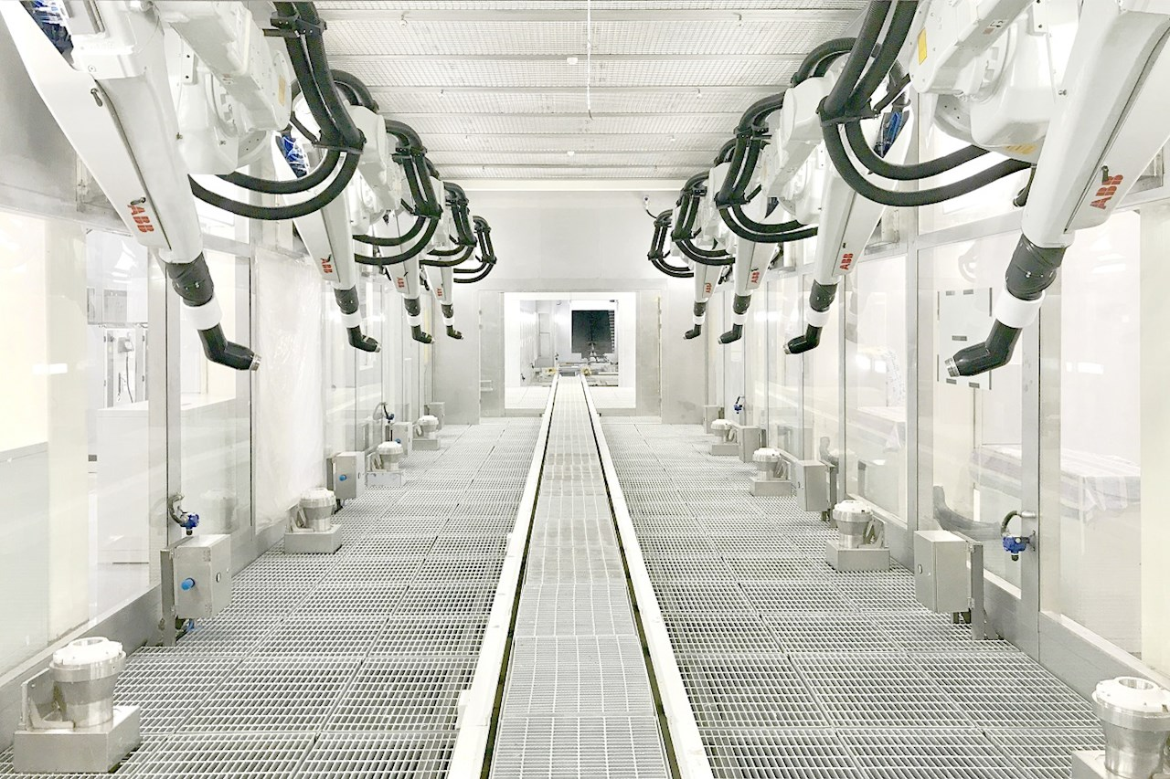 Soluções de pintura da ABB Robotics