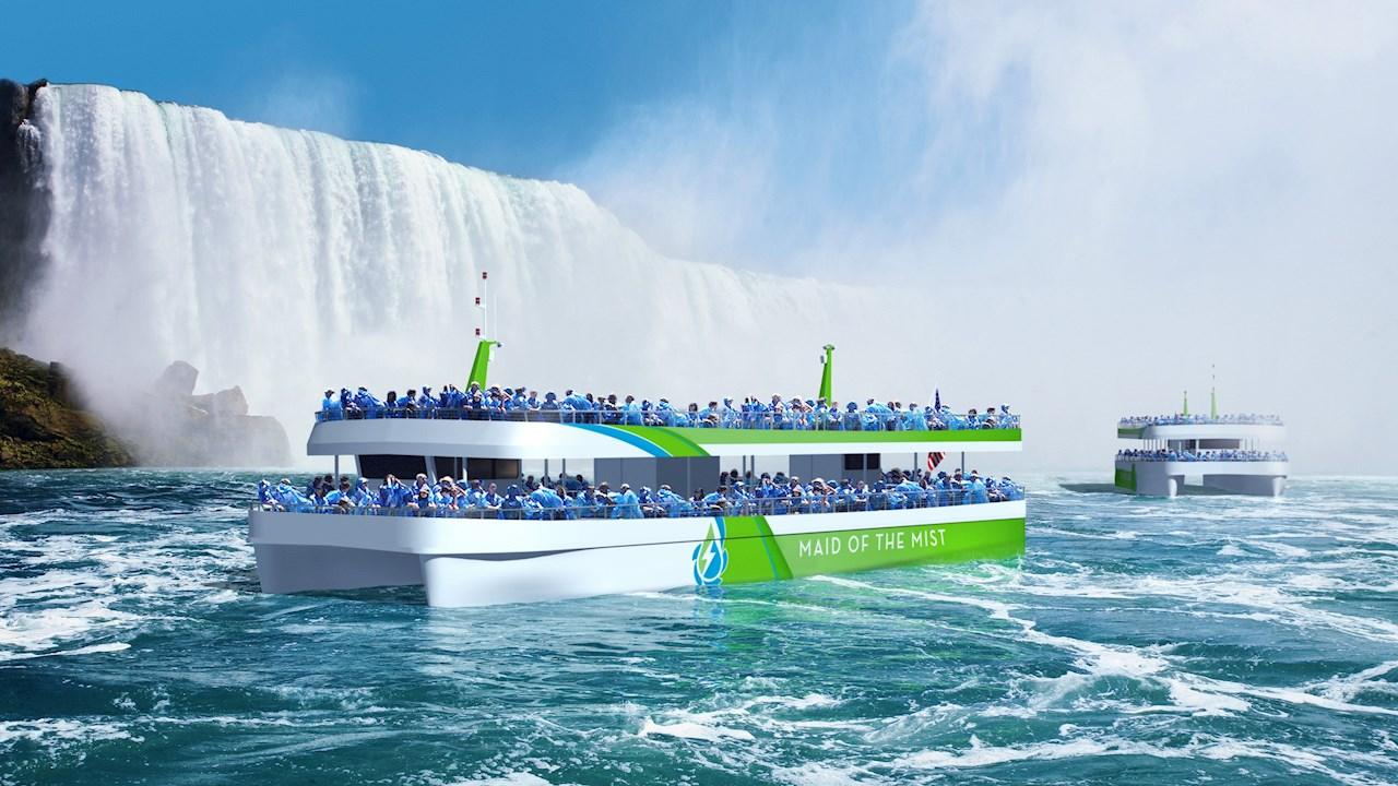ABB-Technologie bringt Touristen in den ersten in den USA gebauten vollelektrischen Schiffen zu den Niagarafällen