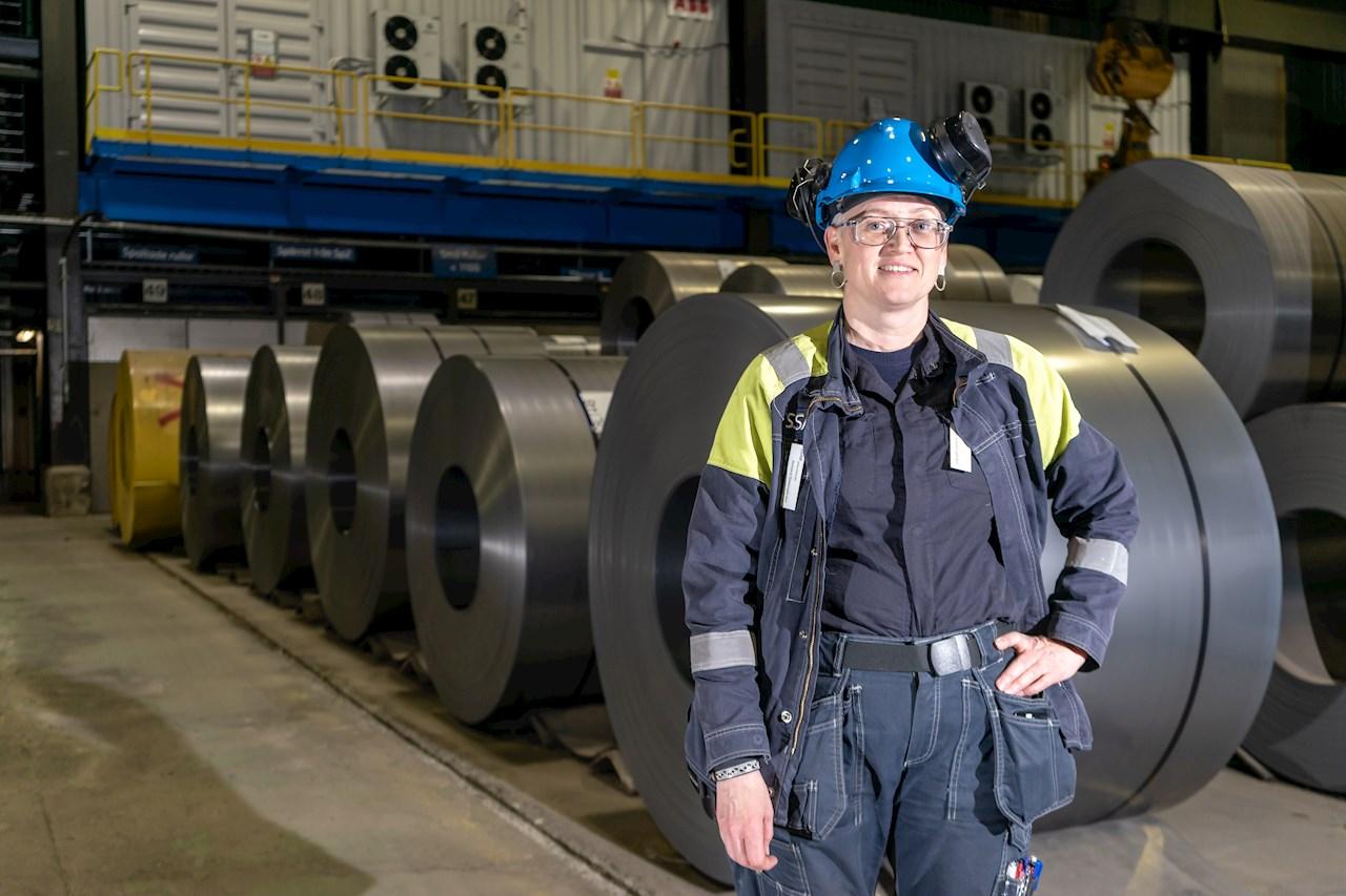 Jennica Simesgården, projektledare inom elkraft på SSAB