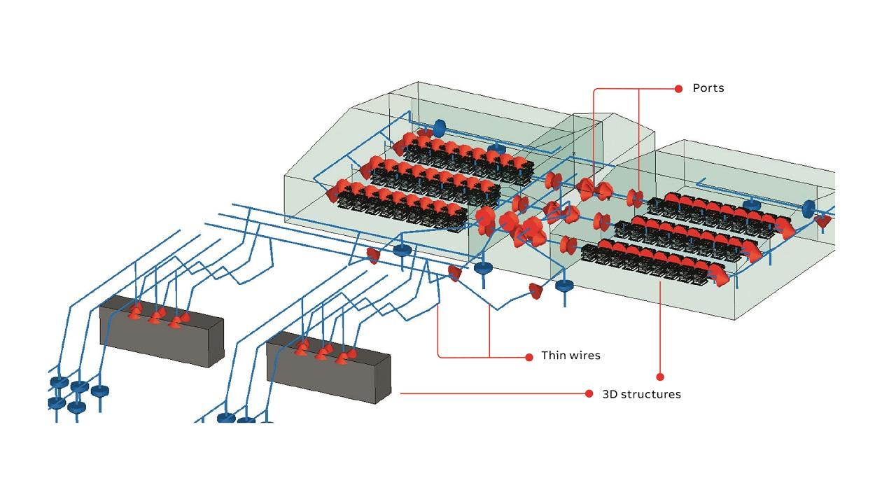 03 A 3D CST model of a full HVDC Light station.