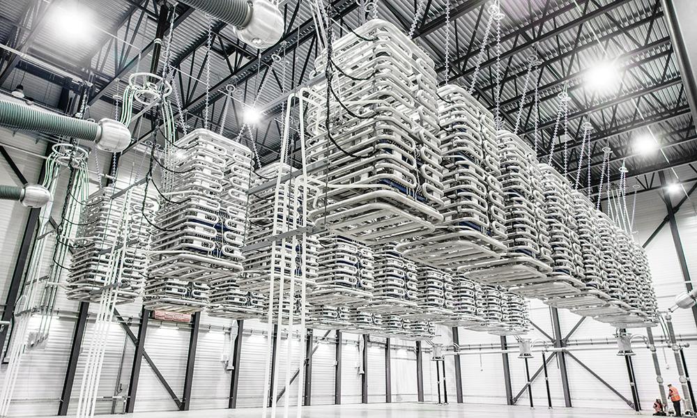 Utsnitt fra ventilhallen i omformerstasjonene som installeres i Sør-Korea