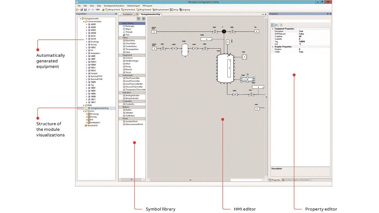 07 HMI editor for a module.