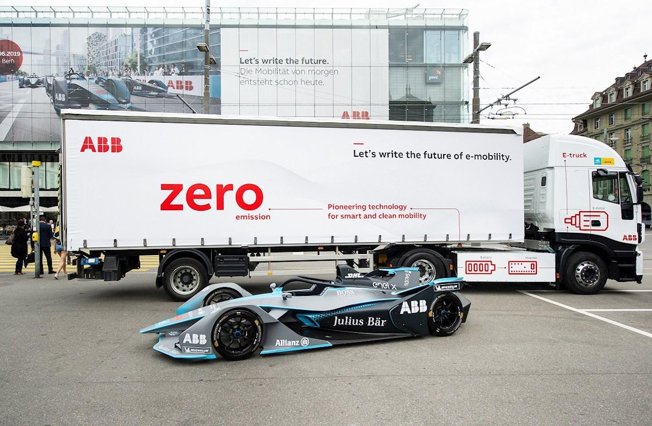 Először közlekedett a svájci főváros, Bern utcáin az ABB kibocsátásmentes e-tehergépkocsija