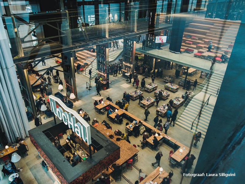 Library, art center and restaurant LocHal Tilburg