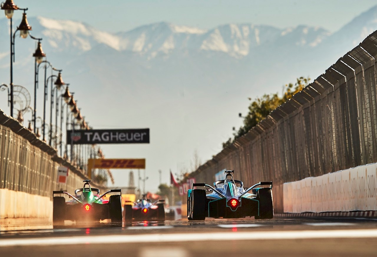 The new 'Gen2' racecar at the  ABB Formula E race in Marrakesh