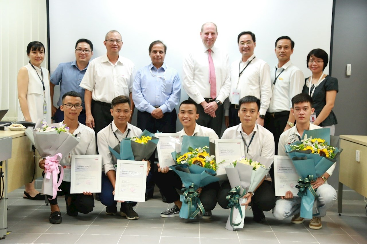 The first five students received graduation certificate in early July 2019