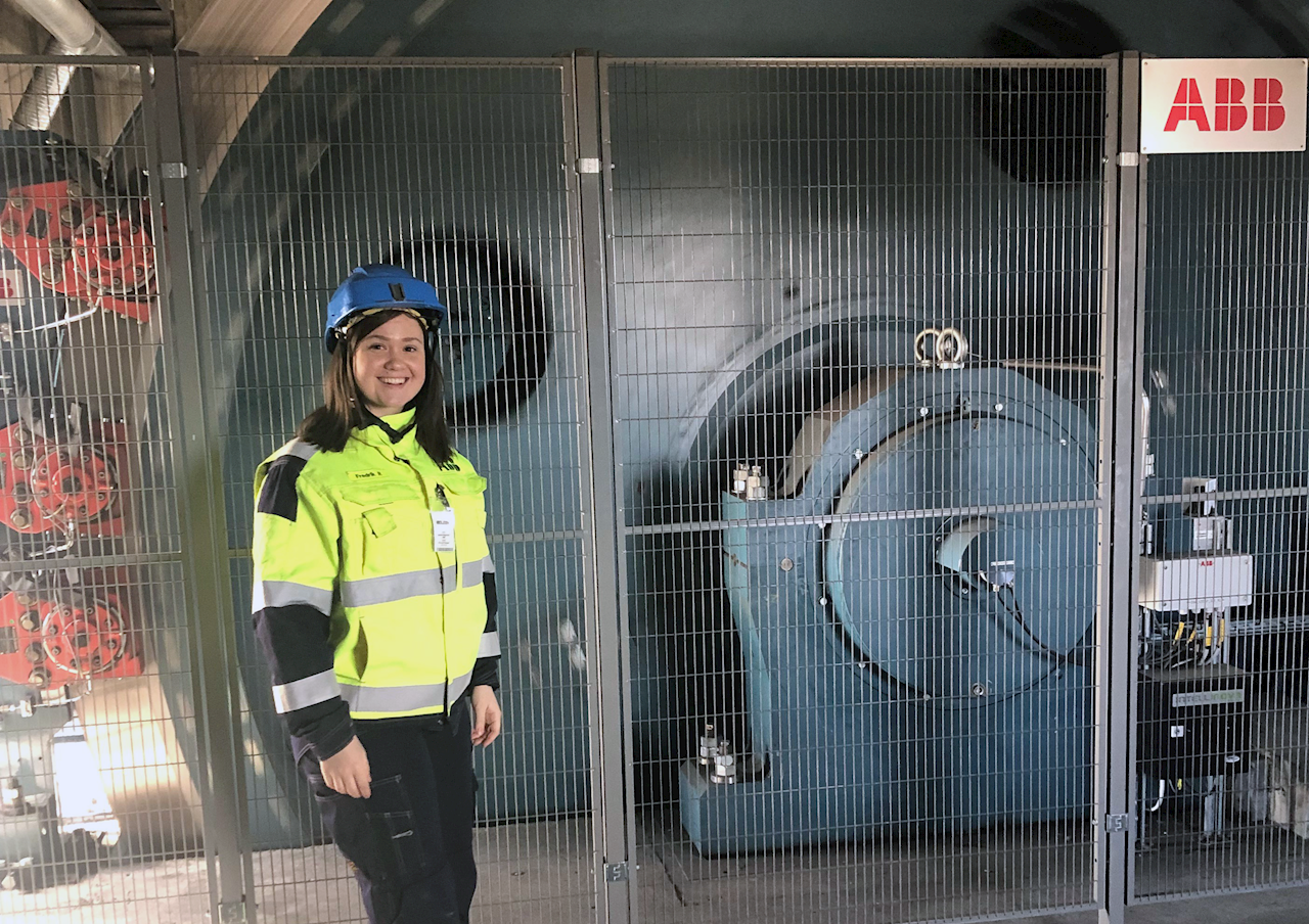 Monikas första gruvbesök blev i en av världens mest moderna gruvor, Garpenberg