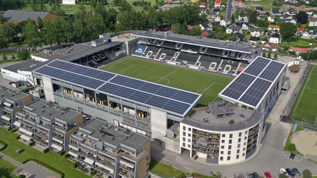 Skagerak Arena in Skie, Norwegen