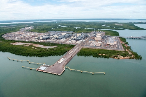 Onshore processing facilities atBladinPoint near Darwinin the Northern Territory - image courtesy of INPEX