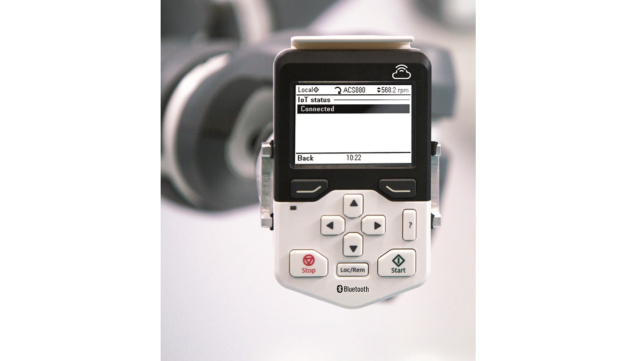 01 ABB's new drive connectivity panel allows customers to remotely monitor the status of their ABB drives and much more.