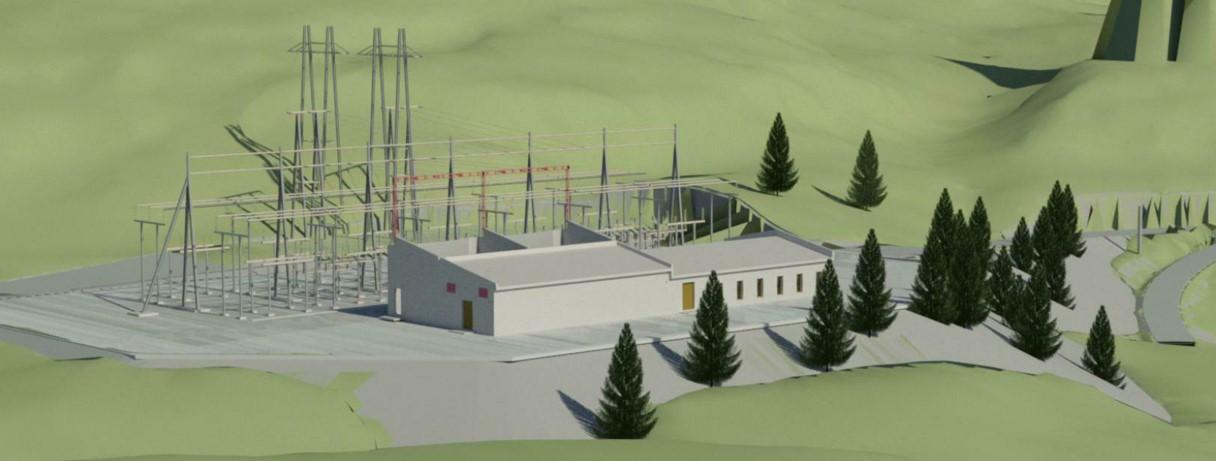 Tørdal transformatorstasjon blir digital og forsterker og sikrer strømforsyningen i Vest-Telemark (Illustrasjon: Skagerak Nett)