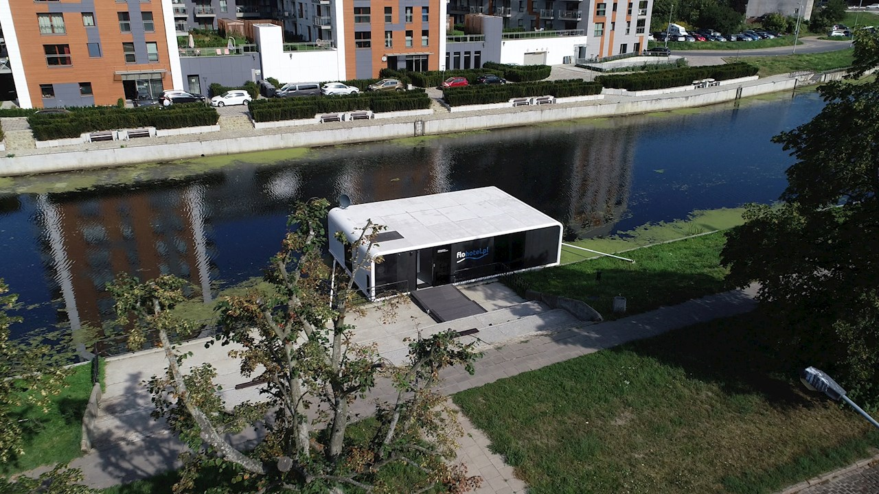 ABB turns floating apartment into space-age pod
