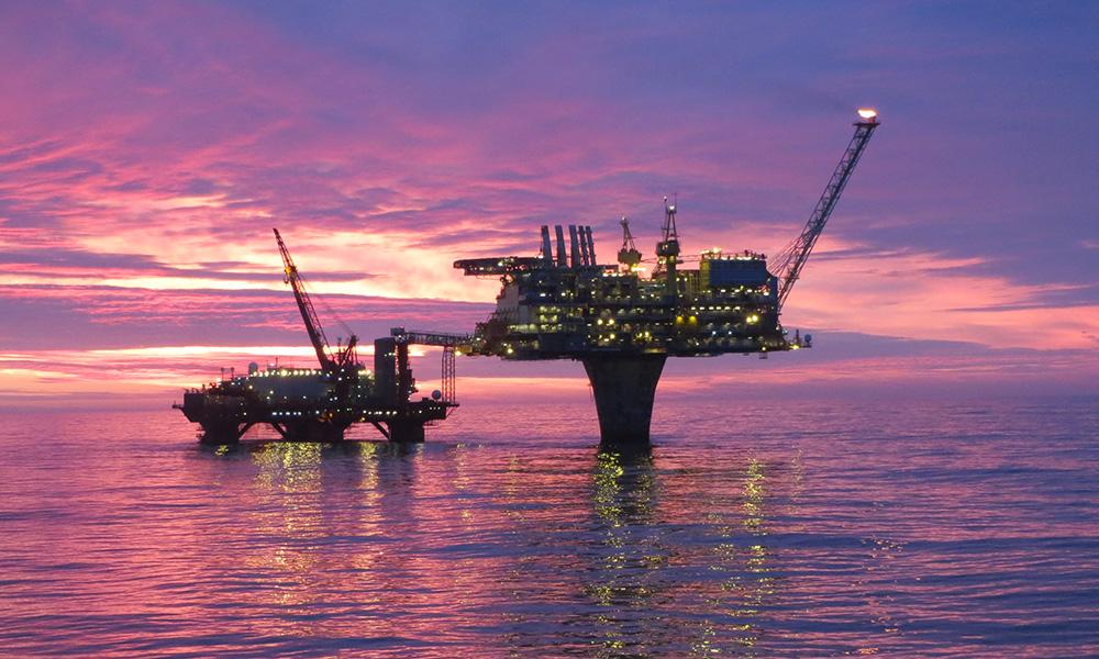 I tillegg til olje produserer nå Draugen også høykvalitetsdata som strømmes til land og skaper en digital tvilling med svært god kvalitet i sanntid (foto: Shell/OKEA).
