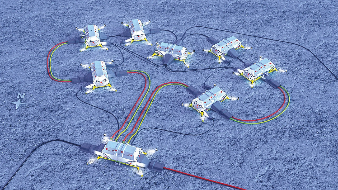 01 Artist's rendition of a subsea power and boosting layout from an Equinor case study.