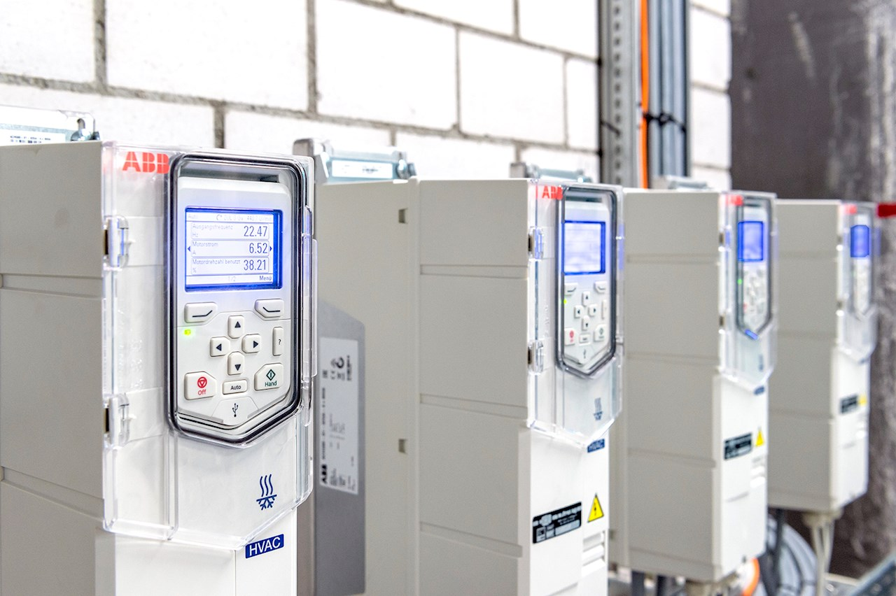 ABB's ACH580 variable speed drives controlling the HVAC in a data center.