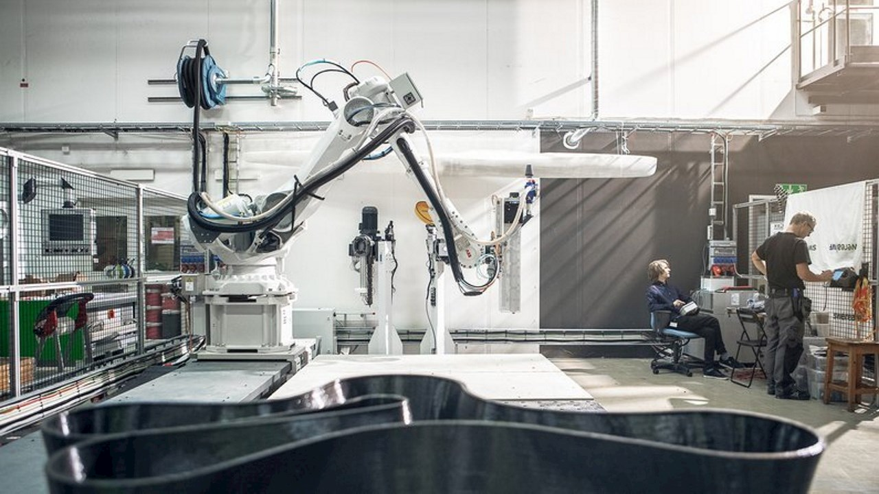 ABB robot creating sustainable furniture