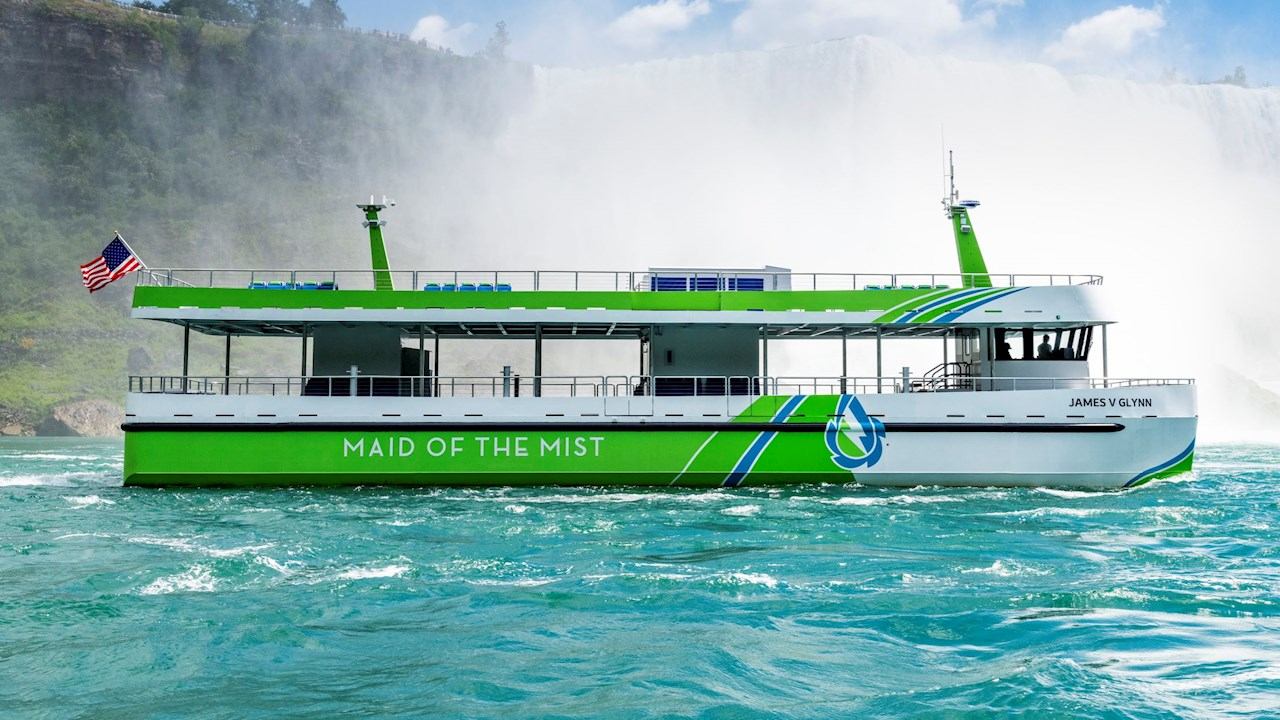 New all-electric Niagara Falls tour ferries powered by ABB enter service