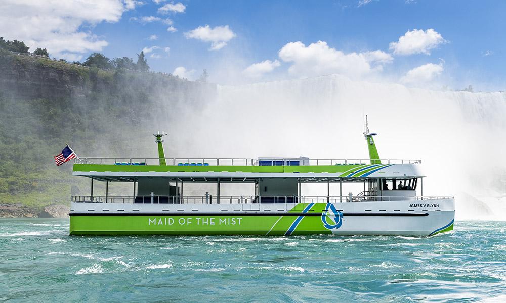 Turbåtpassasjerer får oppleve Niagarafallene uforstyrret av eksos, motorstøy eller vibrasjoner på to fartøy utrustet med helelektrisk fremdrift fra ABB.
