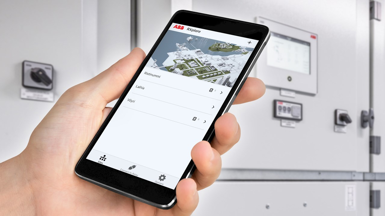 ABB's RXplore mobile application ensures simplified and secure access to ABB devices