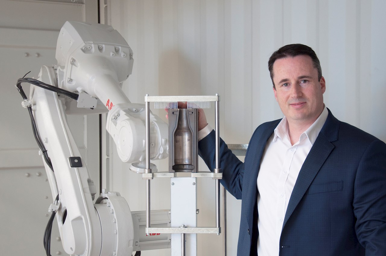 Image: Walter Meyler, Co-Founder and Managing Director of Automation Innovation, with  ABB's IRB 4600 Series robot