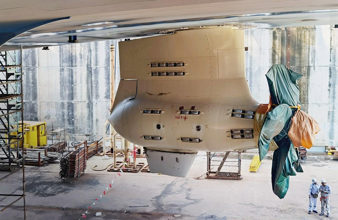 Installasjon av Azipod ble overvåket av ABBs serviceteam i Kina med fjernsupport fra finske kollegaer.