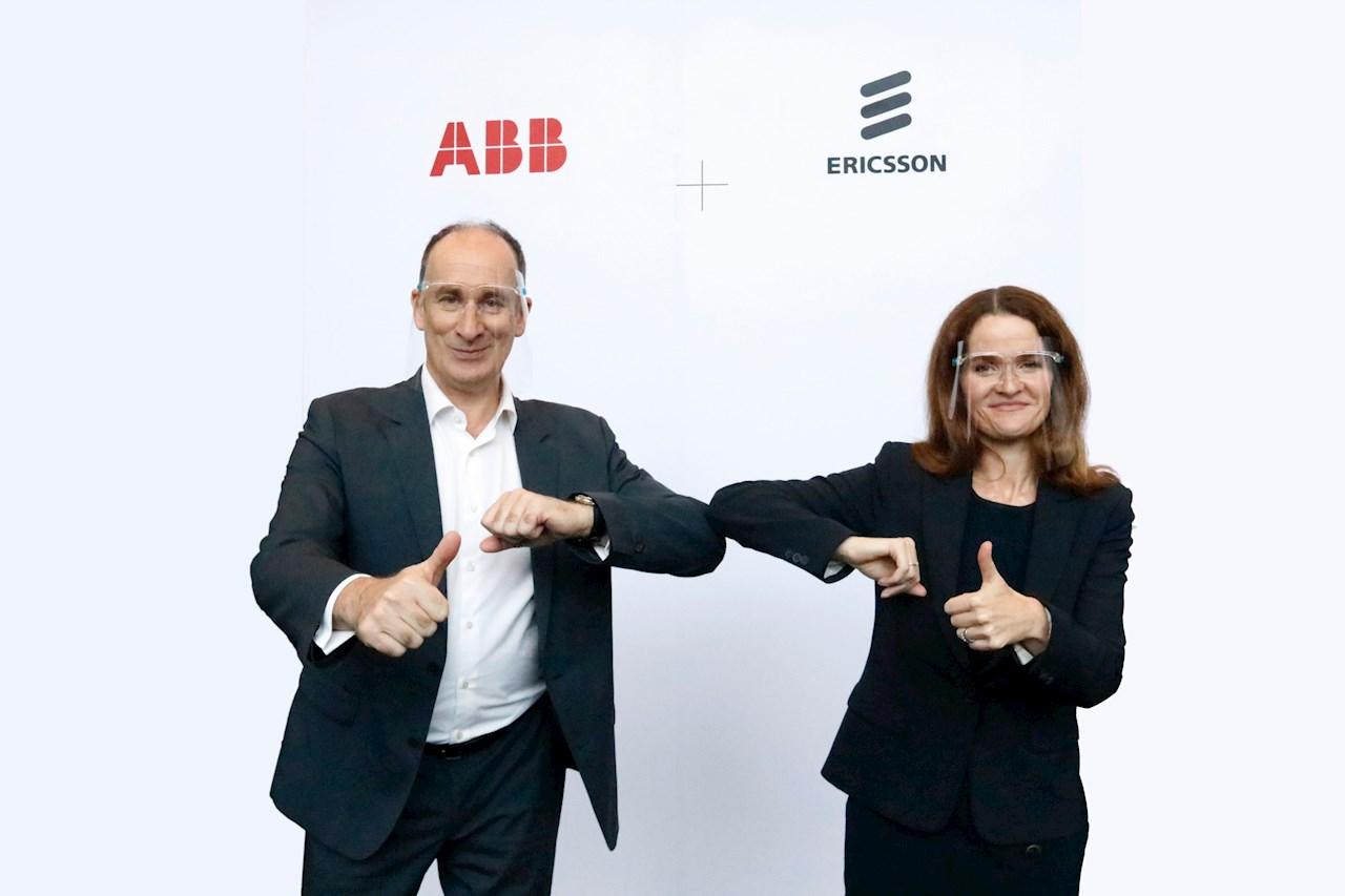 Gianandrea Bruzzone di ABB e Nadine Allen di Ericsson