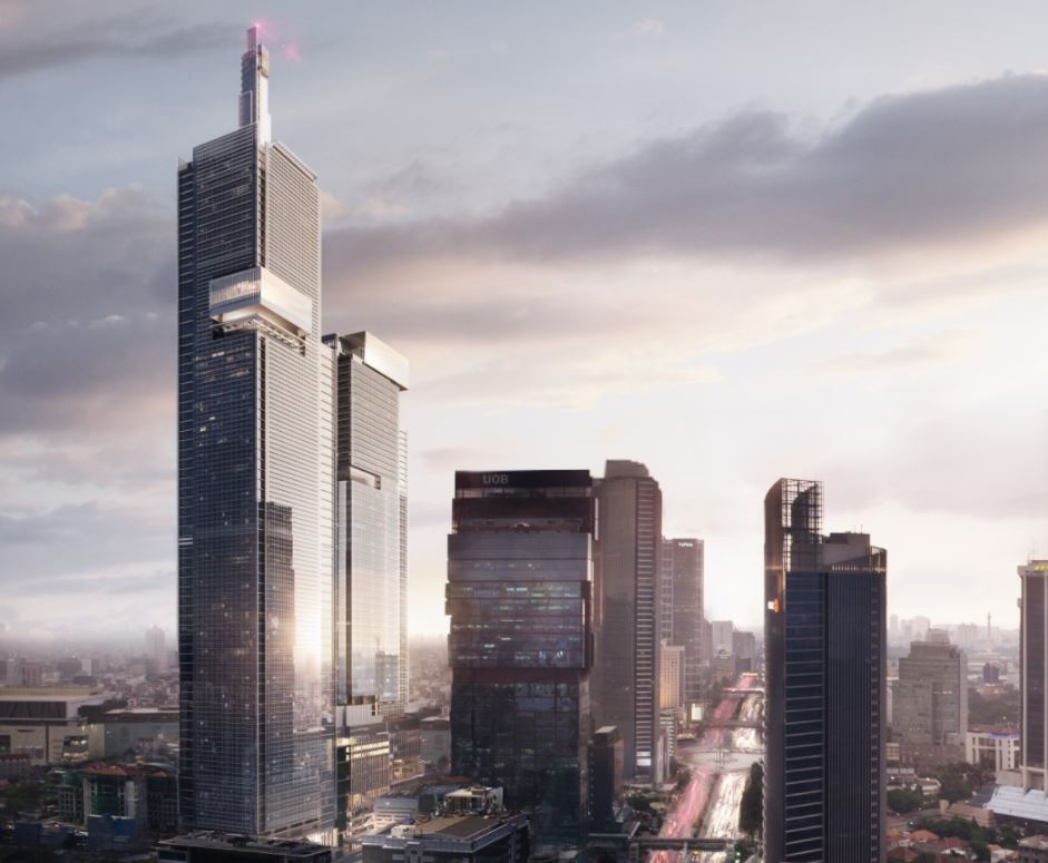 Thamrin Nine will be the highest buidling in Indonesia and the Southern Hemisphere
