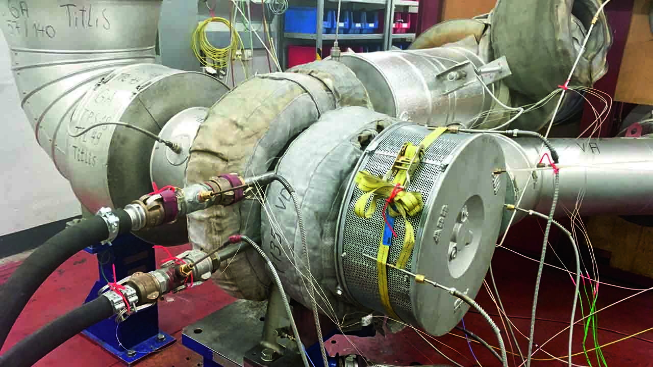 08 Testing of bearing module design with an early prototype on ABB's test bench.