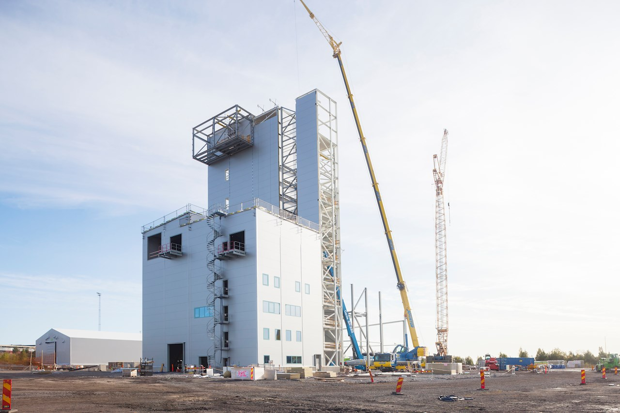 HYBRIT's pilot plant in Luleå, Sweden, is expected to be in place in 2020. Photographer: Susanne Lindholm.