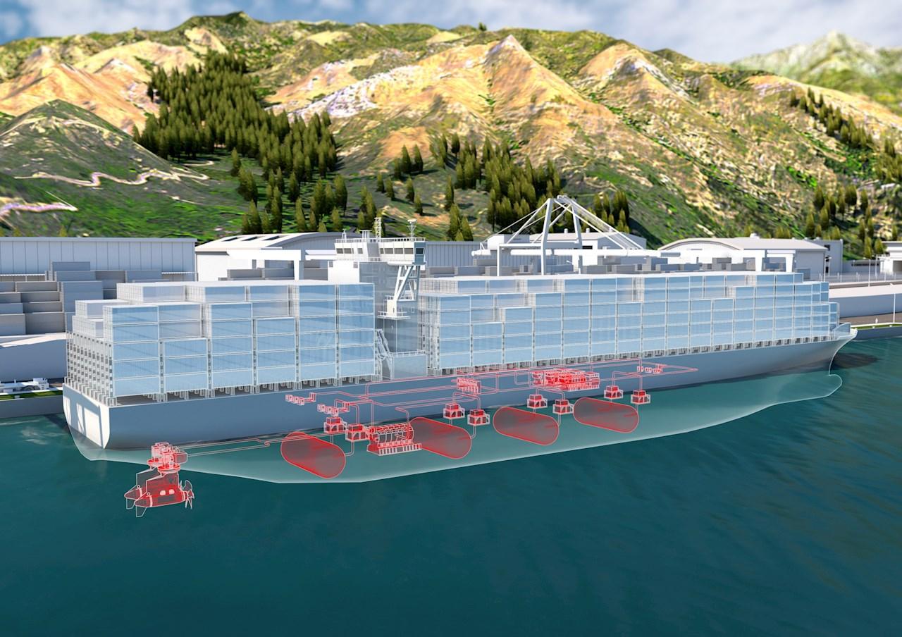 ABB og Hydrogène de France vil samarbeide om produksjon av brenselcellesystemer i megawatt-klassen for maritime anvendelser (Ill. ABB).
