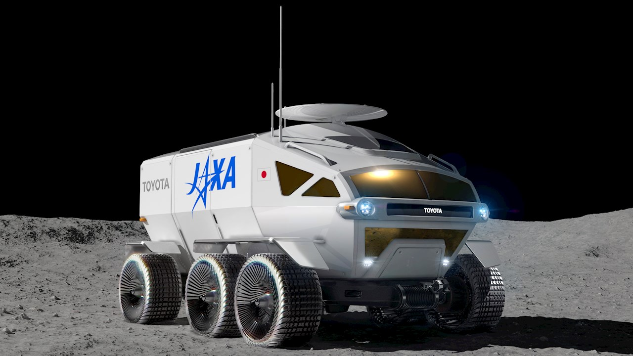 Concept for the pressurized rover, jointly pursued by Toyota and JAXA. Image courtesy of Toyota Motor Corporation