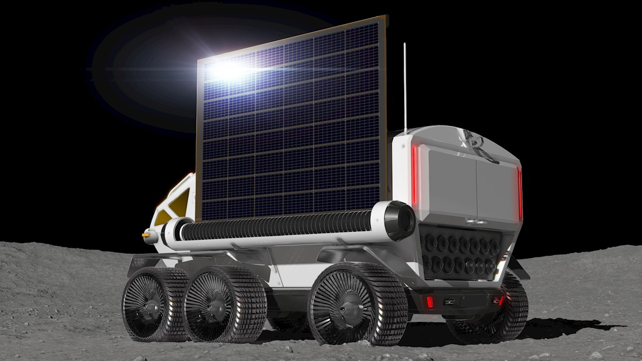 The rover will be equipped with a deployable solar cell. Image courtesy of Toyota Motor Corporation
