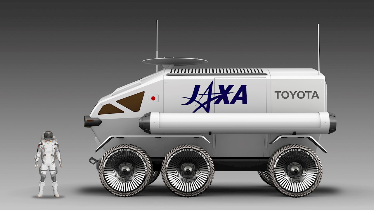 The rover will measure 6 meters long and 3.8 meters high. Image courtesy of Toyota Motor Corporation