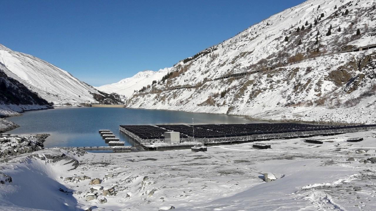 ABB solution buoys floating solar plant on Swiss Alpine lake