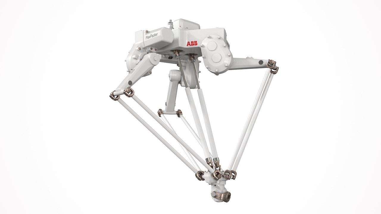 Ende 2020 verfügbar: Der Deltaroboter IRB 390 FlexPacker von ABB wird als Vier- und Fünf-Achs-Variante mit einer Traglast von bis zu 15 kg erhältlich sein