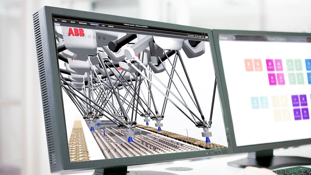 Der neue FlexPacker von ABB ist für den Einsatz mit PickMaster Twin ausgelegt, der marktführenden Robotersoftware von ABB für kameragestützte Pick- und Verpackungsanwendungen.