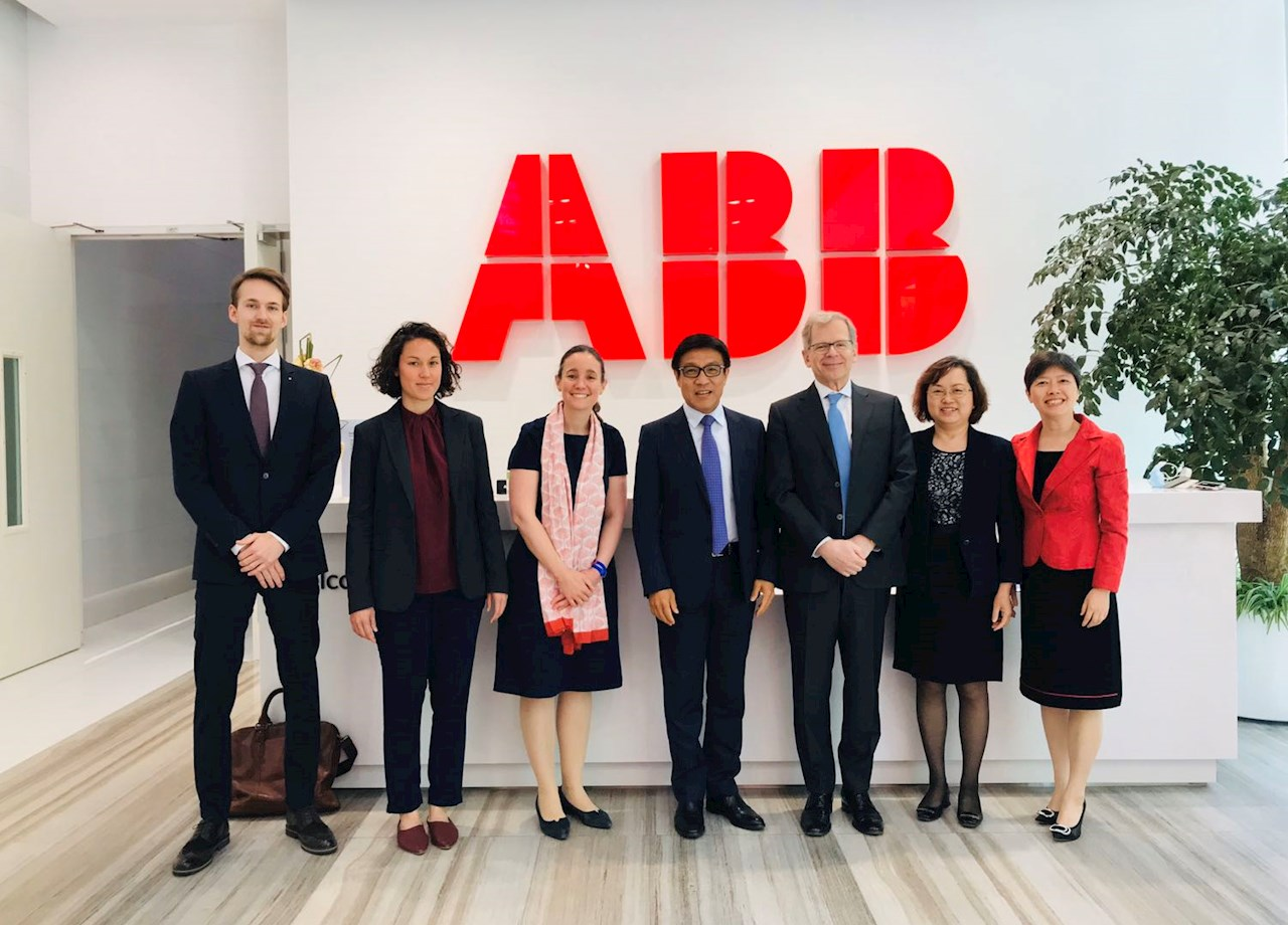 瑞士驻华大使罗志谊一行莅临ABB中国访问